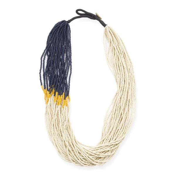 Ivory Mustard Navy Seed Necklace | Ink + Alloy | Fashion Accessories | Necklaces