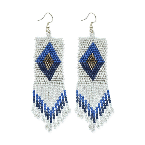 Ivory Lapis And Navy Seed Earrings | Ink + Alloy | Fashion Accessories | Earrings
