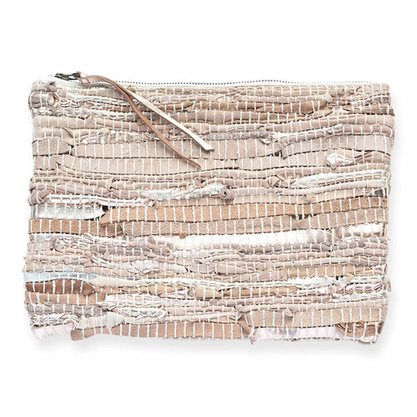 Rose Gold Recycled Leather Clutch | Ink + Alloy | Bag | Clutch