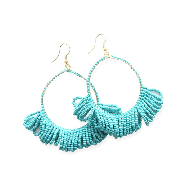 Turquoise Hoops Earrings | Ink + Alloy | Fashion Accessories | Earrings