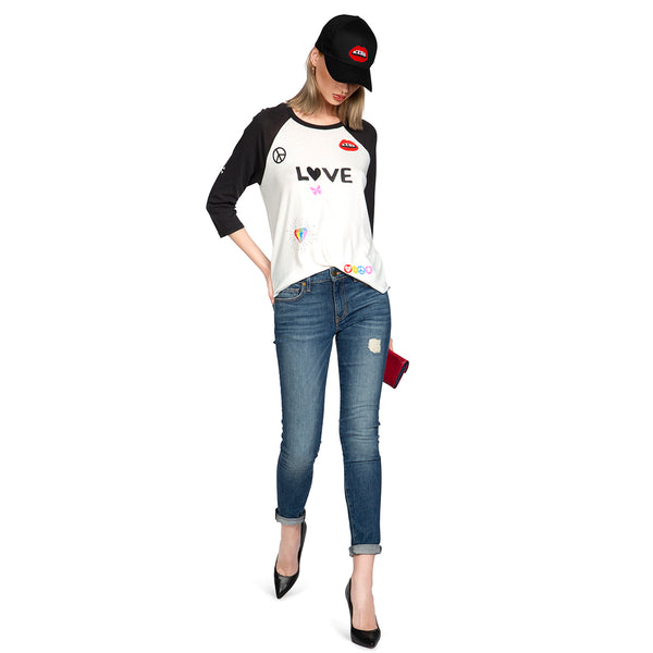 Kenya Vintage Baseball T - Shirt | Lauren Moshi | Clothes | Tops I T- Shirt