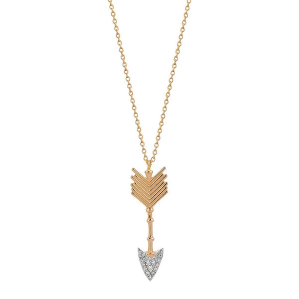 14K Rose Gold Large Arrow Necklace | Kismet by Milka | Fine Jewelry | Necklace