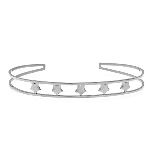 White Five Star Bangle | Maya J | Fashion Accessories | Bracelet