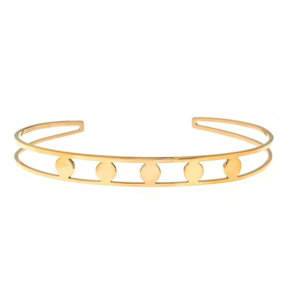 Yellow Five Disk Bangle | Maya J | Fashion Accessories | Bracelet