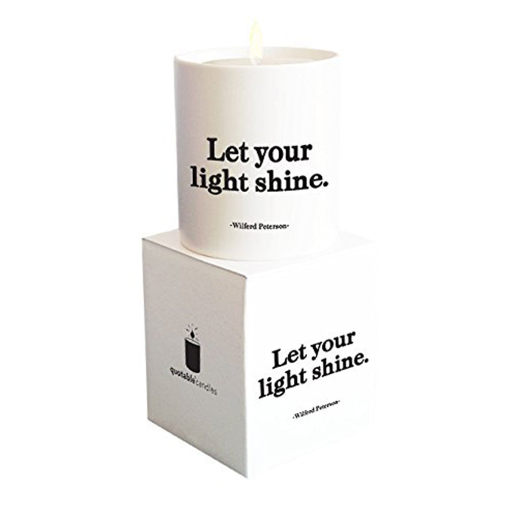 Let your light shine candle