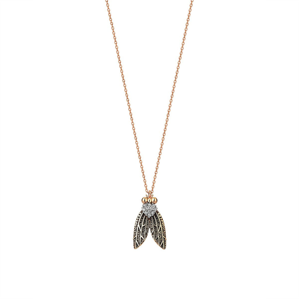 14K Rose Gold Fly Necklace | Kismet by Milka | Fine Jewelry | Neklace