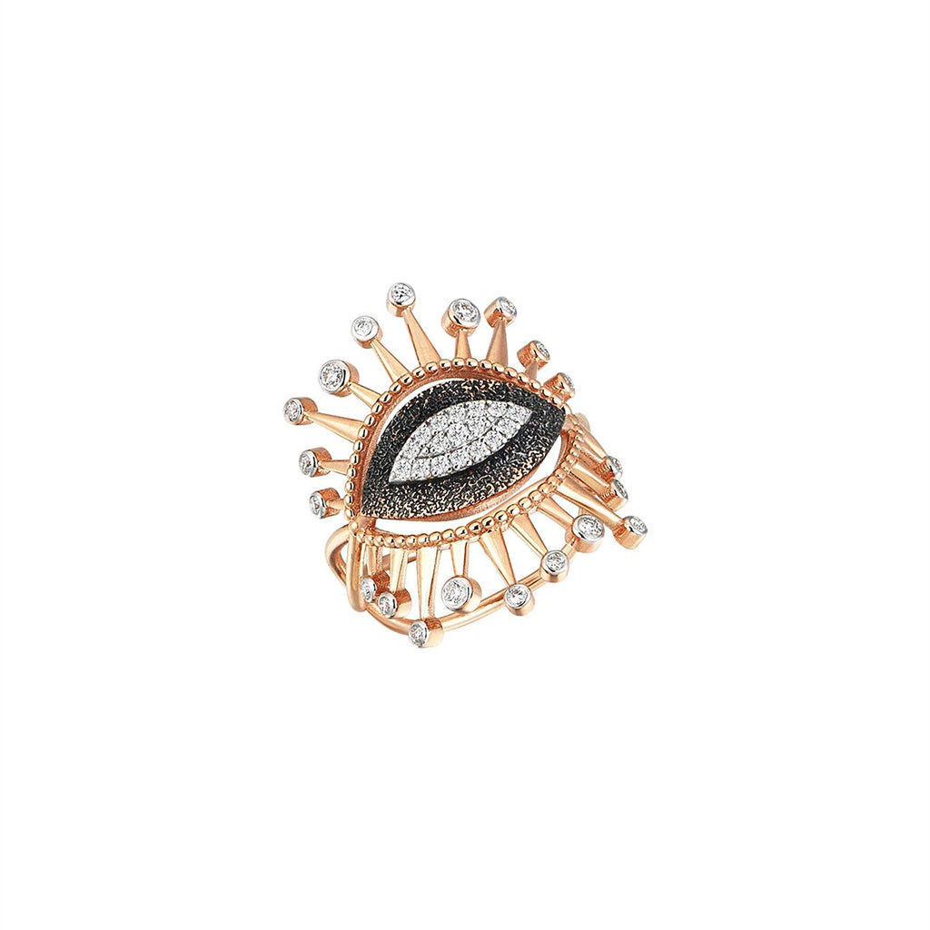 14K Rose Gold Eye Eternal Vision Ring | Kismet by Milka | Fine Jewelry | Ring