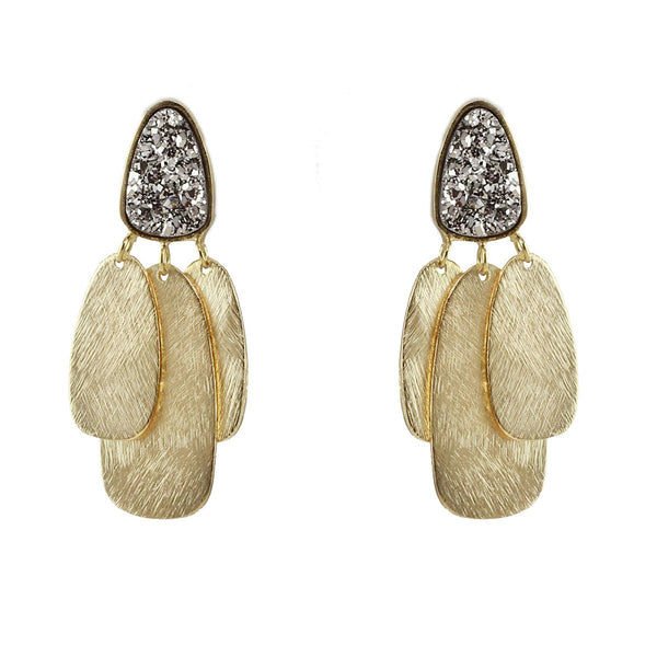 Kendal Druzy Earrings | Marcia Moran | Fashion Accessories | Earrings
