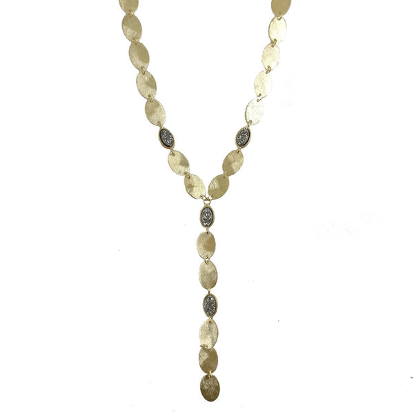 Alta Stone Embellished Lariat Necklace | Marcia Moran | Fashion Accessories | Neklace