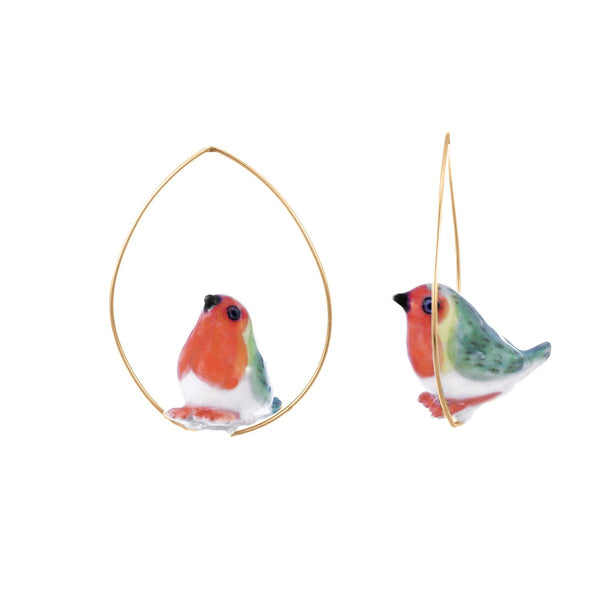 Robin Birds Earrings | Nach Bijoux | Fashion Accessories | Earrings
