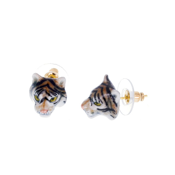 Mini Tiger Stud Earrings | Nach Bijoux | Fashion Accessories | Earrings
