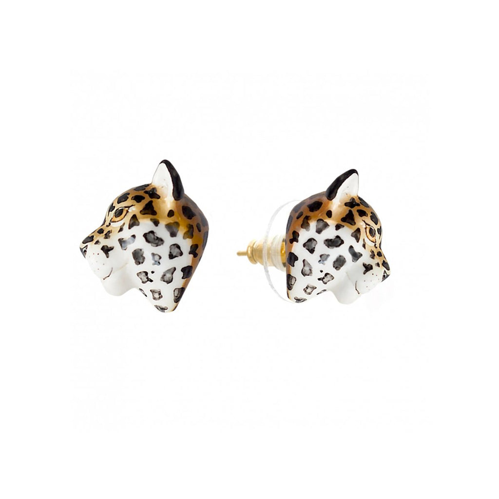 Flat Leopard Stud Earrings | Nach Bijoux | Fashion Accessories | Earrings
