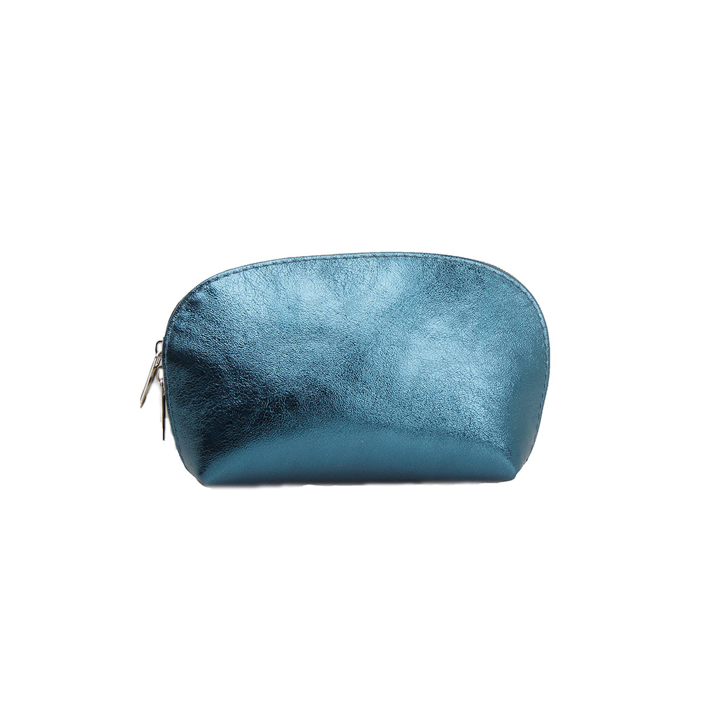Leather laminated cosmetic bag