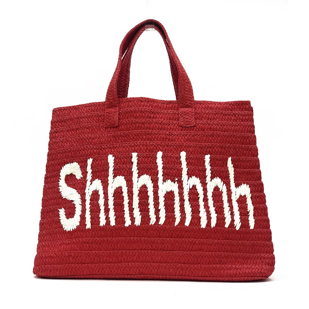 Shhhhh Red Beach Bag | Btb | Bag | Beach Bag