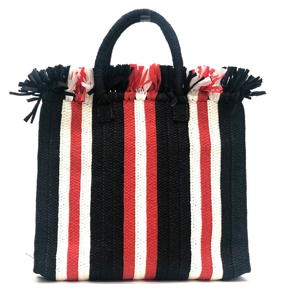 Red Fringe Stripe Clutch | Btb | Bag | Beach Bag