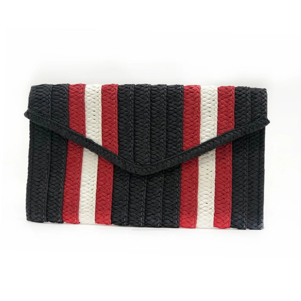 Black And Red Stripe Clutch | Btb | Bag | Clutch Bag