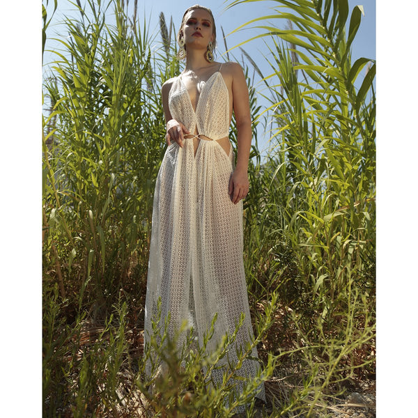 White Mykonos Open Keyhole  | Mojo Beach | Clothes | Dress