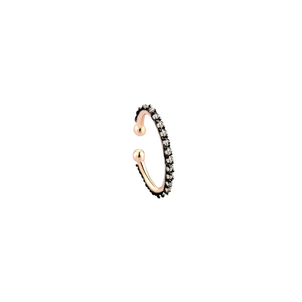 Single Piece 14K Rose Gold Circle Cuff Earring | Kismet by Milka| Fine Jewelry | Earrings