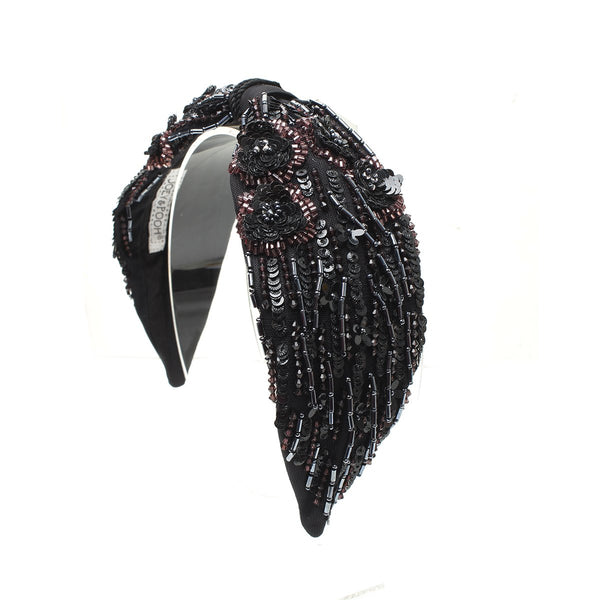Eva Black Drops Headband | Joey & Pooh | Fashion Accessories | Hair Accessories