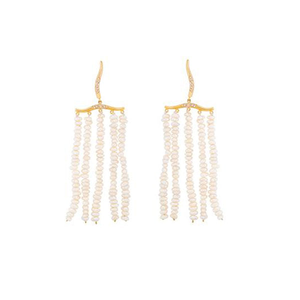 Feminine Pave Pearl Earrings | Joanna Laura Constantine | Fashion Accessories | Earrings