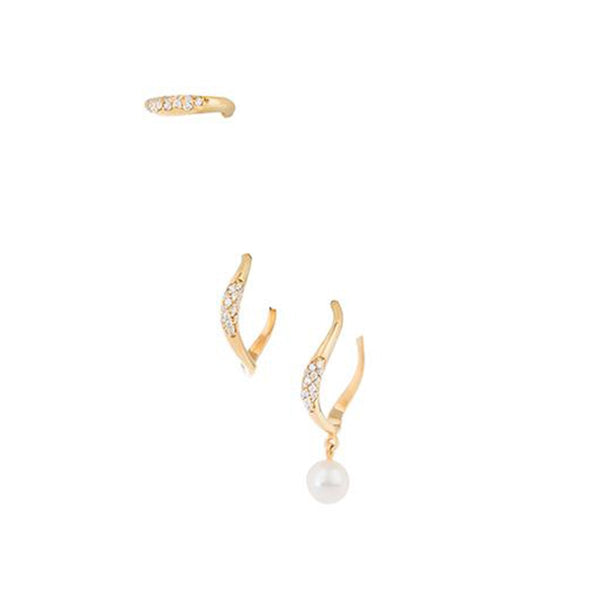 Waves Pave Hoop Earrings | Joanna Laura Constantine | Fashion Accessories | Earrings
