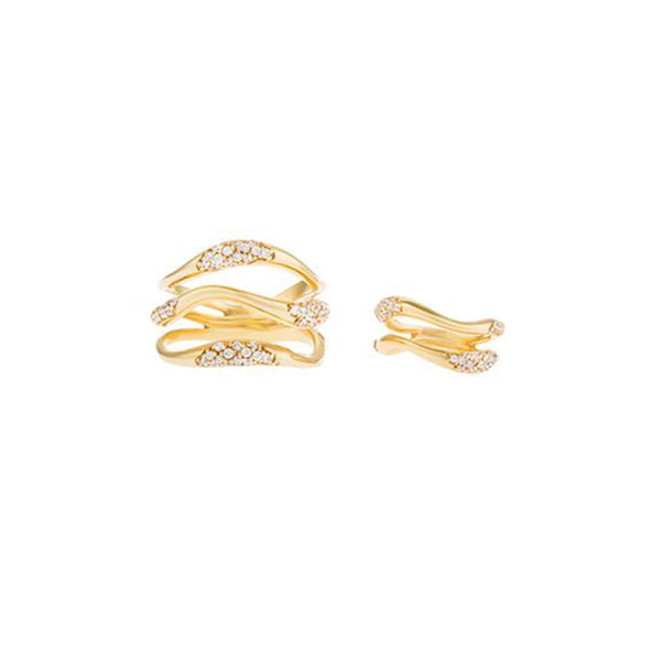 Feminine Waves Paves Rings | Joanna Laura Constantine | Fashion Accessories | Rings