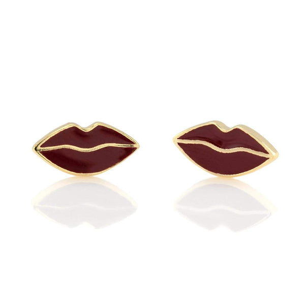Lips enamel stud earrings | Kris Nation | Fashion Accessories | Earrings