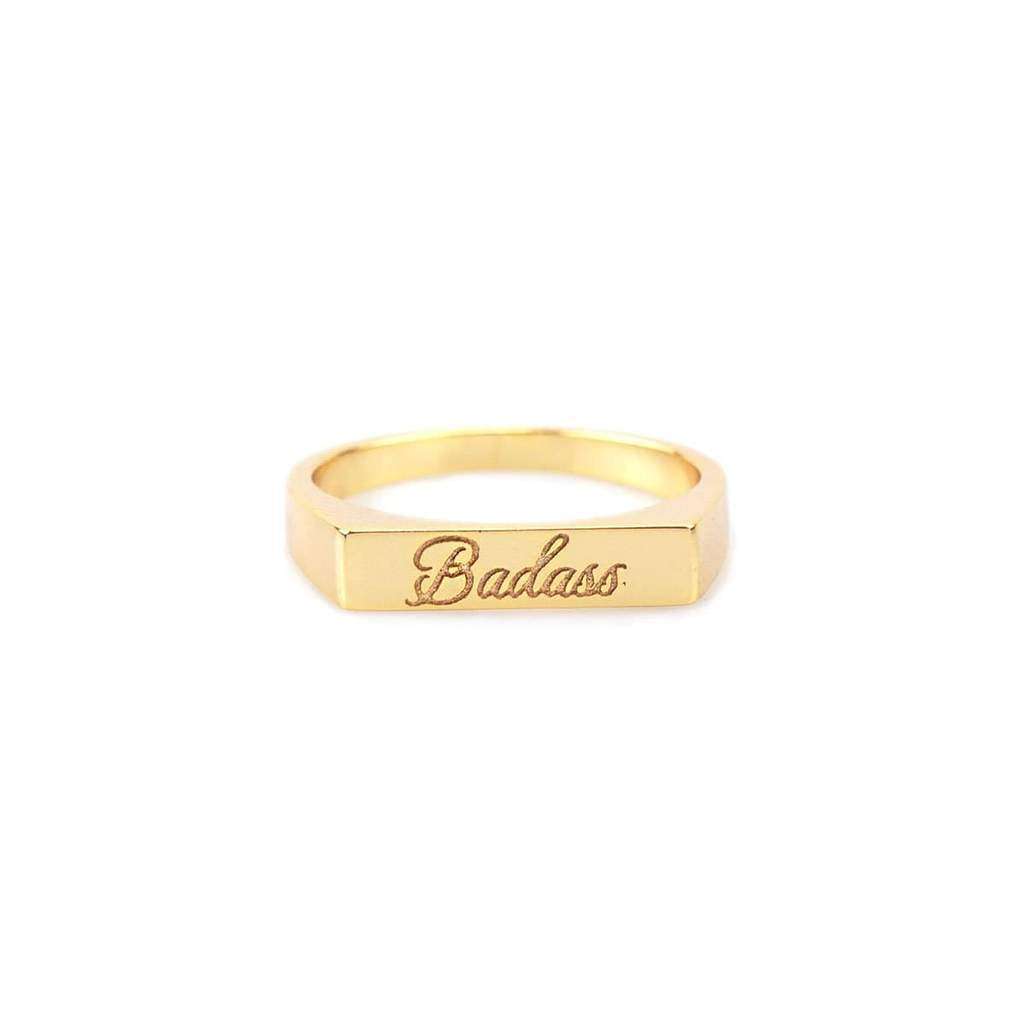 Badass script engraved ring | Kris Nation | Fashion Accessories | Ring