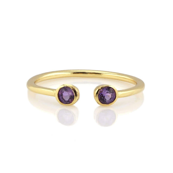 Amethyst double gemstone ring | Kris Nation | Fashion Accessories | Ring