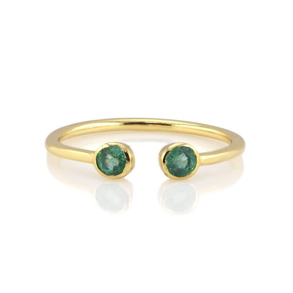 Emerald double gemstone ring | Kris Nation | Fashion Accessories | Ring