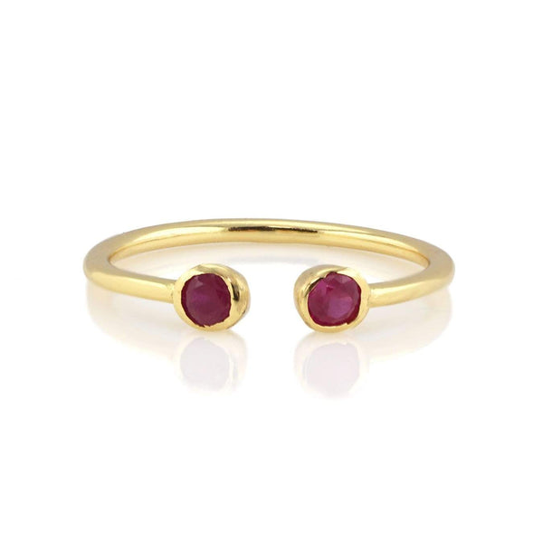 Ruby double gemstone ring | Kris Nation | Fashion Accessories | Ring