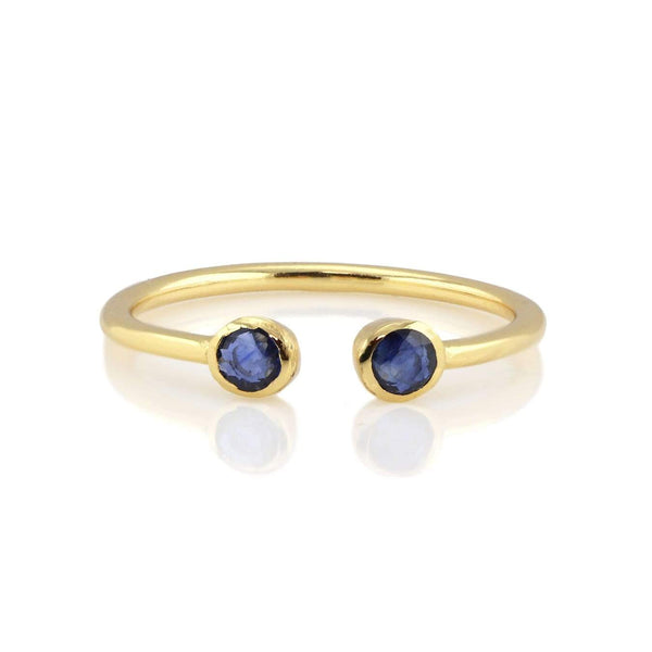 Sapphire double gemstone ring | Kris Nation | Fashion Accessories | Ring