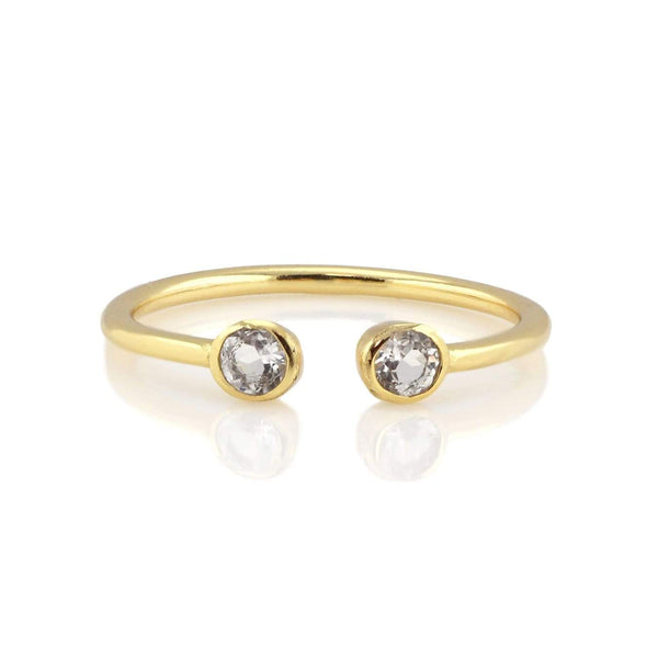 White topaz double gemstone ring | Kris Nation | Fashion Accessories | Ring