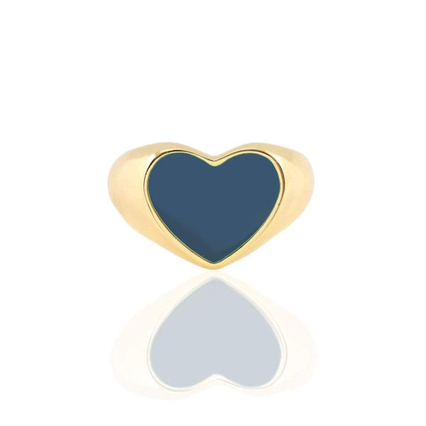 Heart enamel signet ring | Kris Nation | Fashion Accessories | Ring