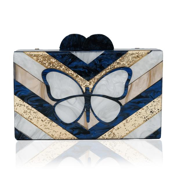 Navy Butterfly Clutch | Elizabeth Sutton | Bag | Clutch