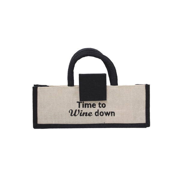 Time To Wine Down Wine Bag| Dani Risi | Bag | Wine Bag