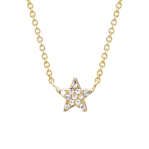 14K Gold  Diamond Star Choker Necklace | EF Collection | Fine Jewelry | Necklace