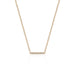 14K Rose Gold  Diamond Mini Bar Necklace | EF Collection | Fine Jewelry | Necklace