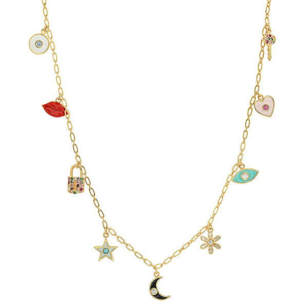 Mixed Multiple Charms Necklace | Tai | Fashion Accessories | Necklace