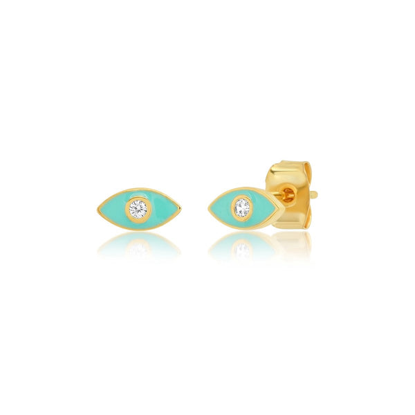 Tuquoise Enamel Marquee Earrings | Tai | Fashion Accessories | Necklace