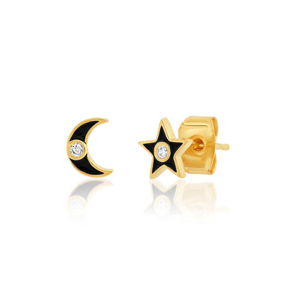 Star And Moon Post Earrings | Tai | Fashion Accessories | Necklace