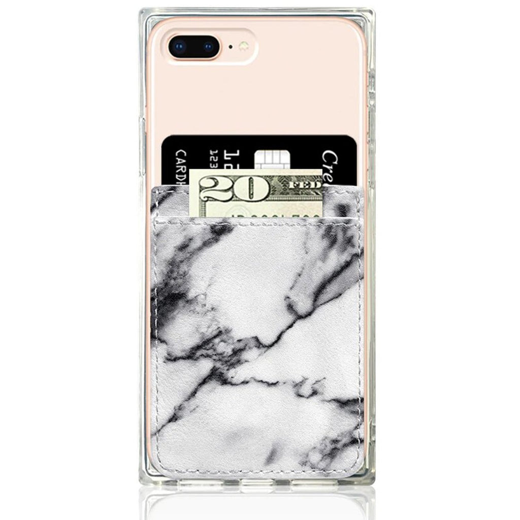 White Marble Faux Leather Phone Pocket | iDecoz | Mobile Phone Accessories | Fashion Accessories