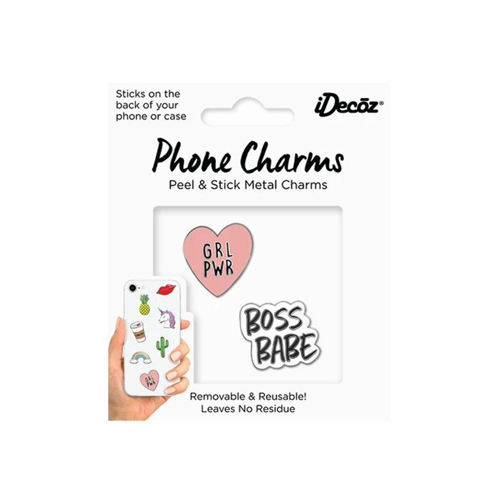 Girl Power Phone Charms Pack | iDecoz | Mobile Phone Accessories | Fashion Accessories
