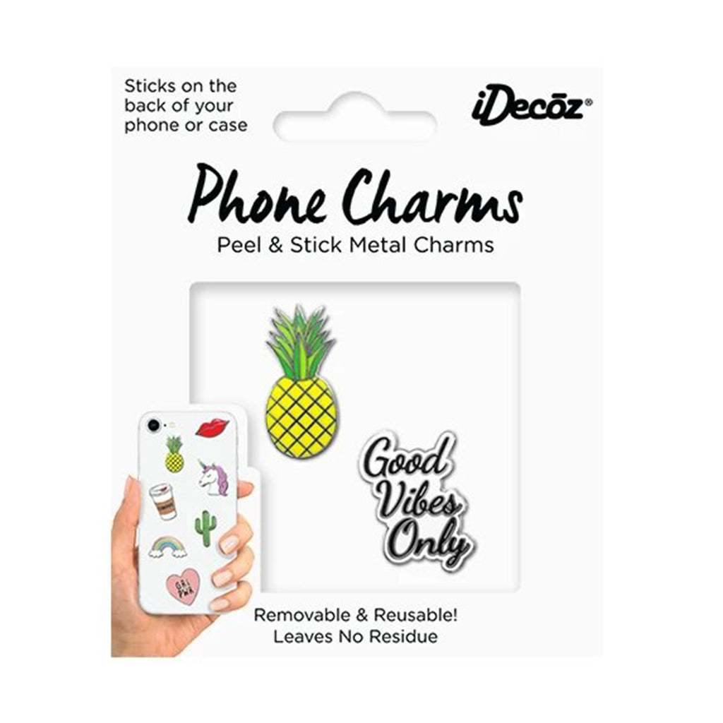Good Vibes Only Phone Charms Pack | iDecoz | Mobile Phone Accessories | Fashion Accessories