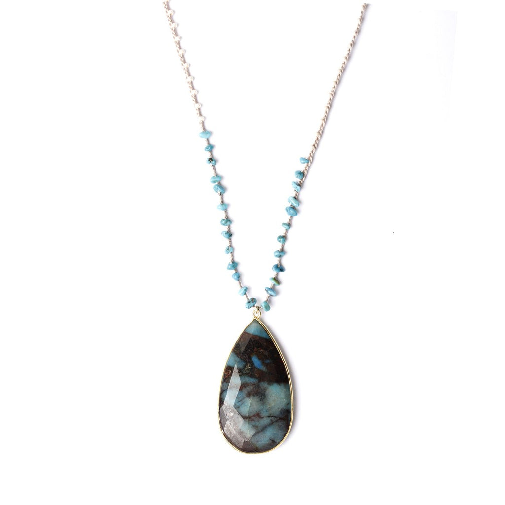 Harlow Chrysocolla Necklace | Fashion Accessories | Native Gem | Necklace