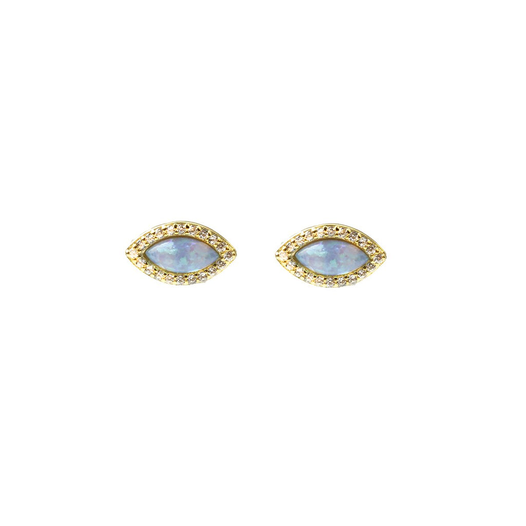 Visions Opal Stud Earrings | Fashion Accessories | Native Gem | Earrings