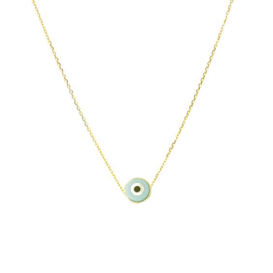 18K Gold Round Eye Necklace | Fine Jewelry | Boom & Mellow | Necklace