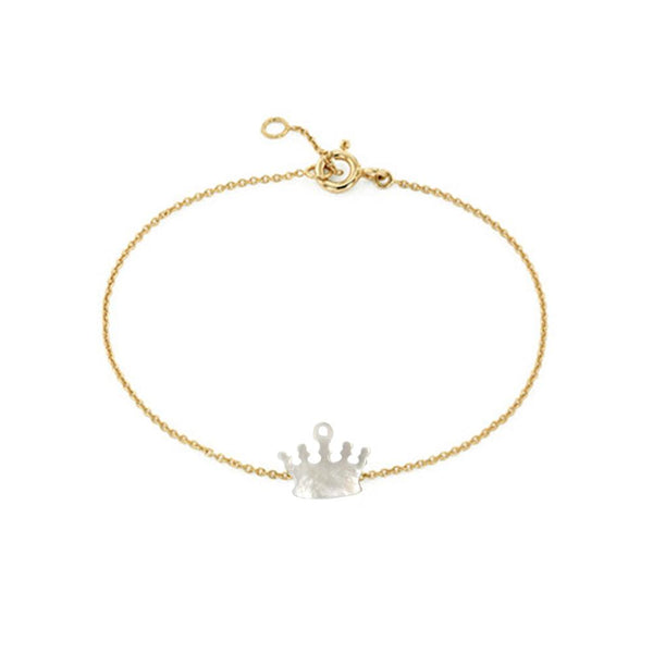 18K Gold Crown Bracelet | Fine Jewelry | Boom & Mellow | Bracelet