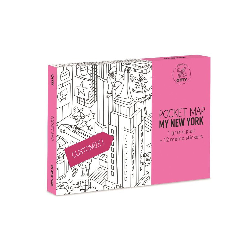 Pocket Map New York | Caramel & Sand | Gift | Kids