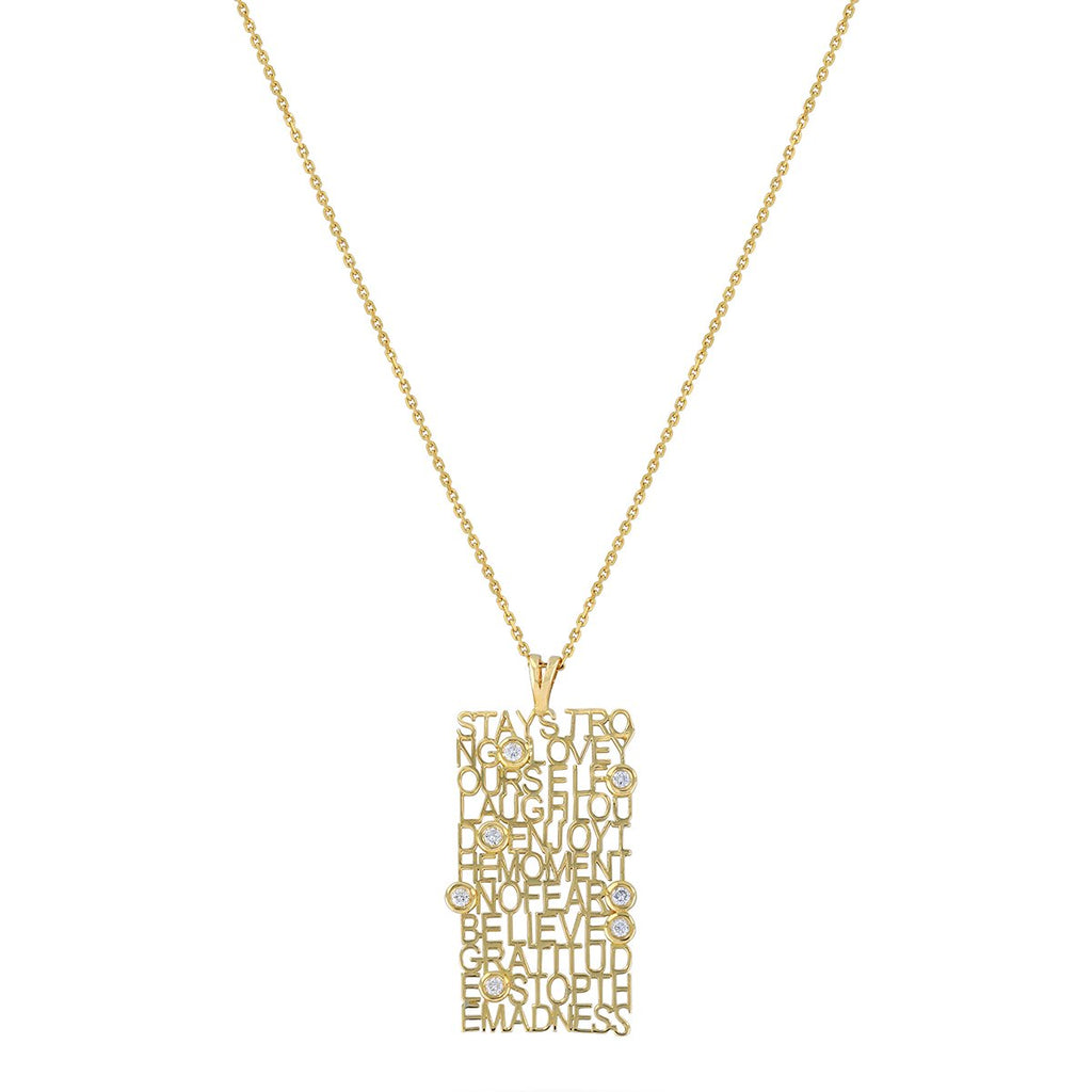 18K Gold Wise Words Necklace | Meher Jewelry | Fine Jewelry | Necklace